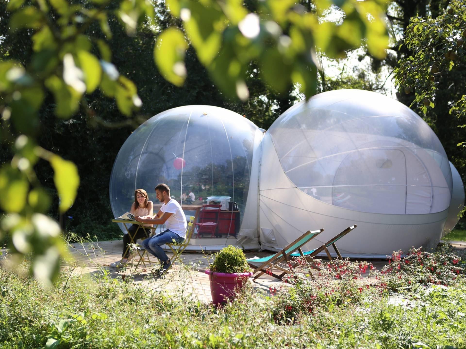 Week End Bulle Transparente Bretagne la bulle du verger - idées de weekend insolite